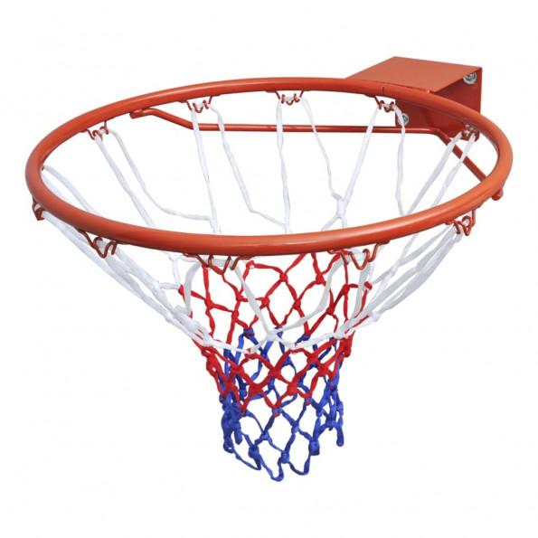 Basketballkurvesæt med ring og net orange