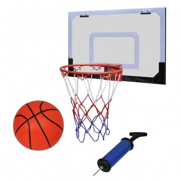 Mini-basketballkurv med bold og pumpe