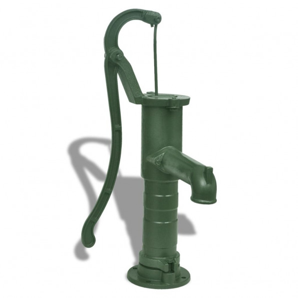 Håndbetjent vandpumpe til haven støbejern