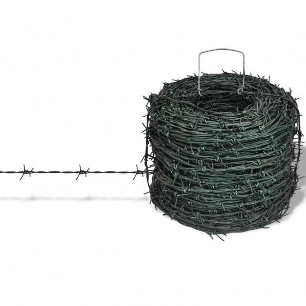 Grøn Sammenfiltring pigtråd 100 m