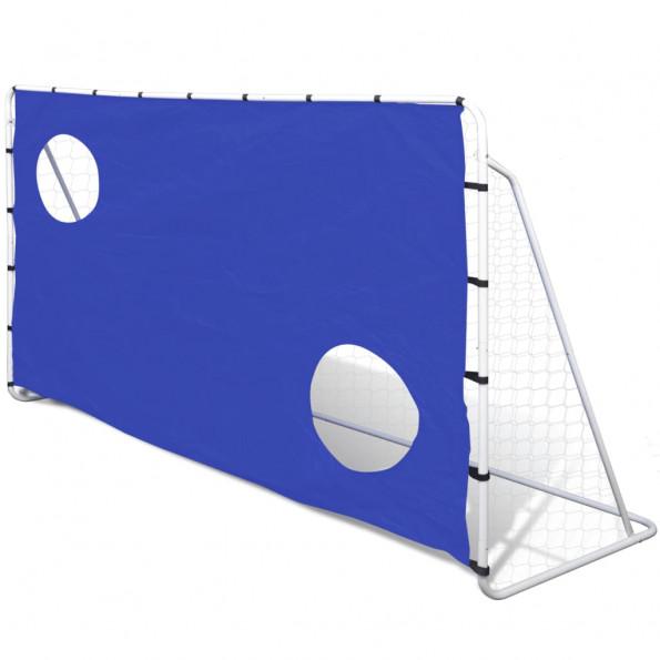 Fodboldmål med Sigtemål Stål 240 x 92 x 150 cm Høj kvalitet