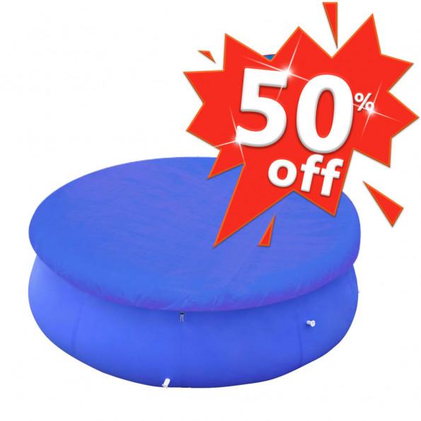 Poolovertræk PE rundt 300 cm 90 g/m²