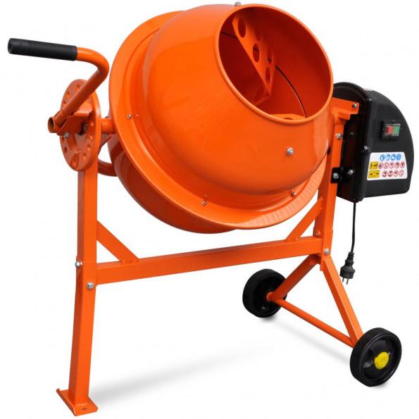 Cementblander elektrisk 63 l 220 W stål orange