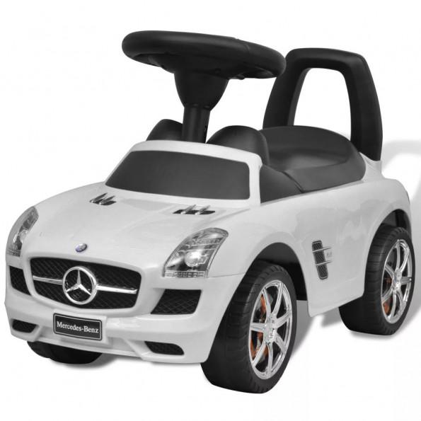 Mercedes Benz skubbebil hvid