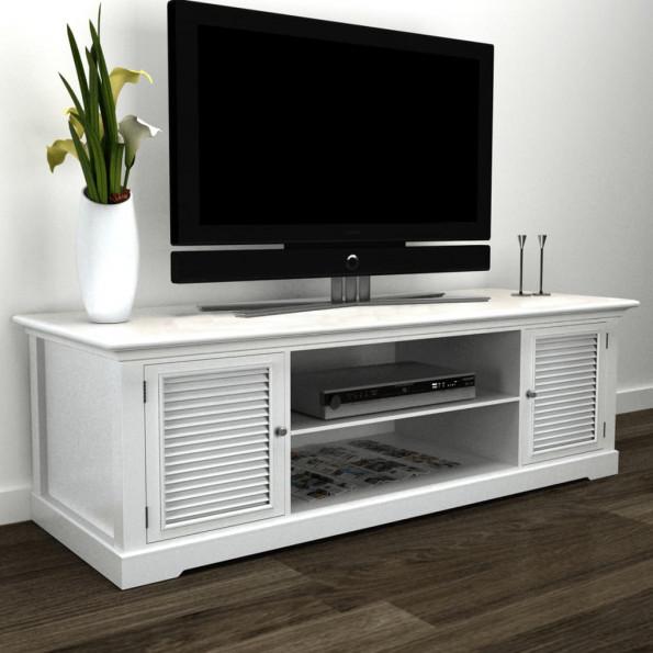 TV-reol træ hvid