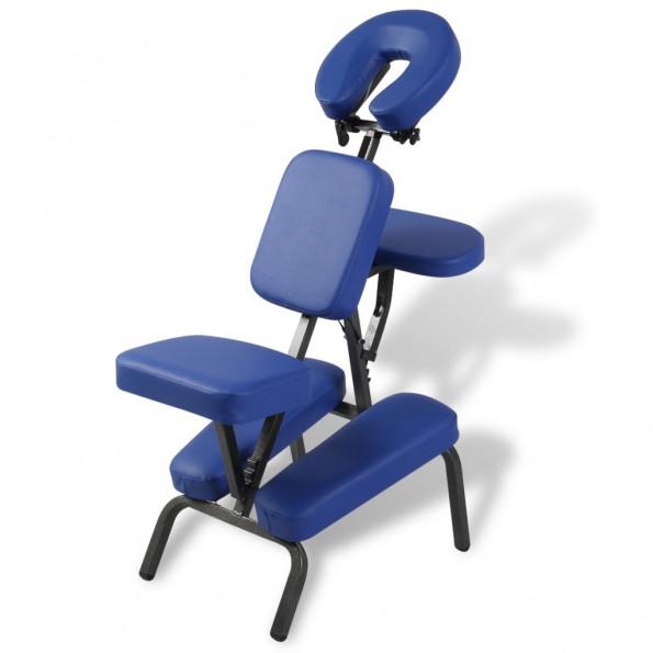 Massagestol foldbar og transportabel blå
