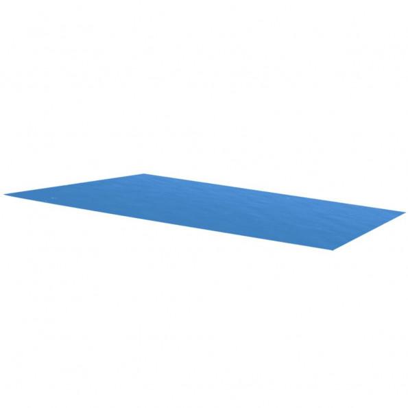 Poolovertræk rektangulært 732 x 366 cm PE blå
