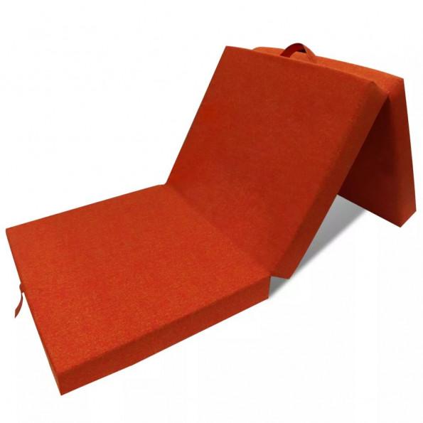 Foldeskummadras 190 x 70 x 9 cm orange