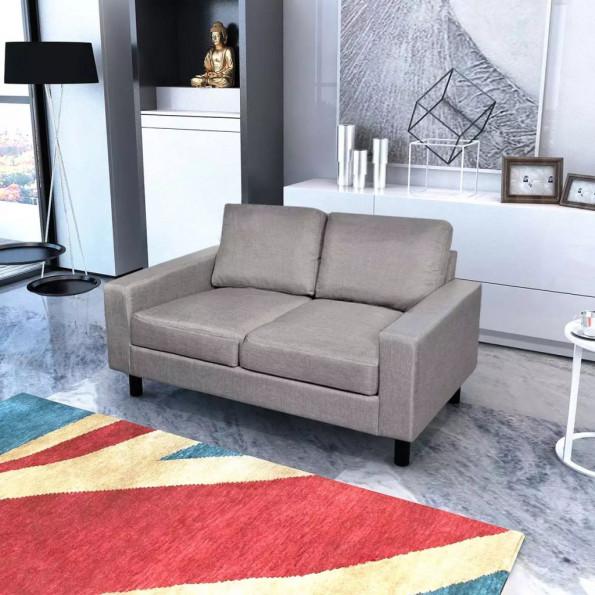 2-pers. sofa stof lysegrå