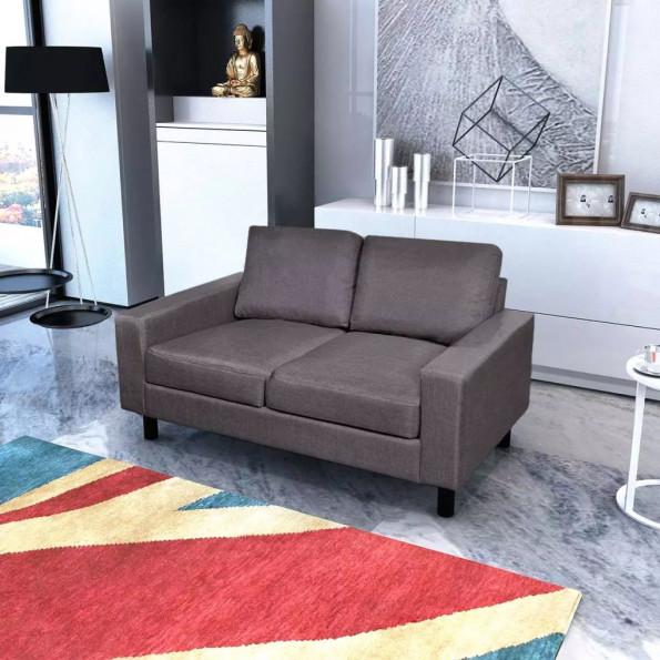 2-pers. sofa i stof mørkegrå