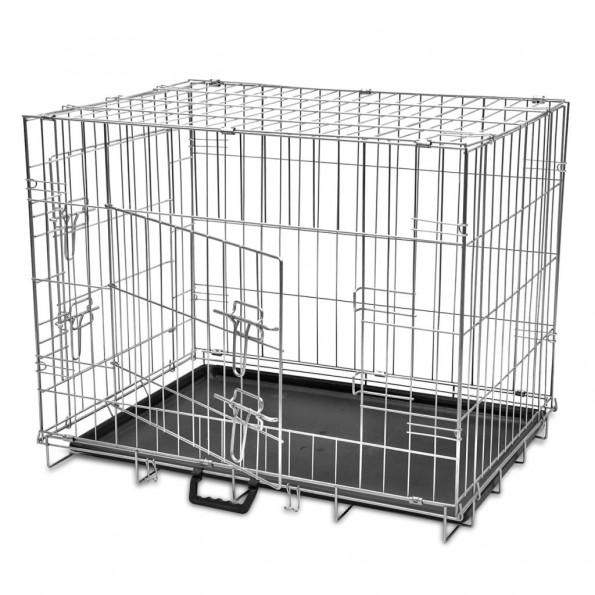 Hundebur sammenfoldeligt str. M metal
