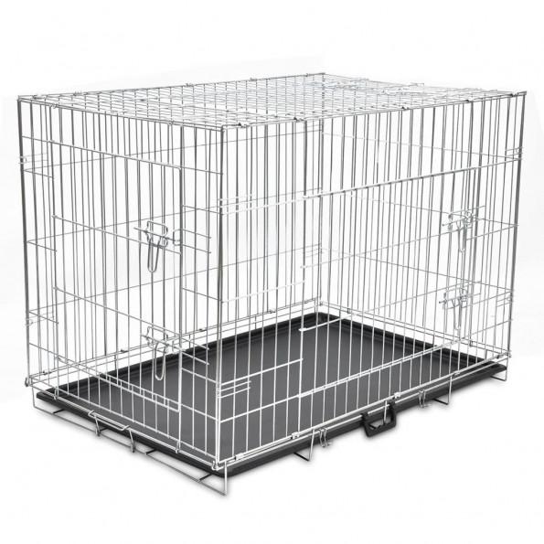Hundebur sammenfoldeligt str. XL metal