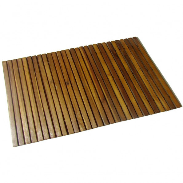 Bademåtte 80 x 50 cm akacietræ