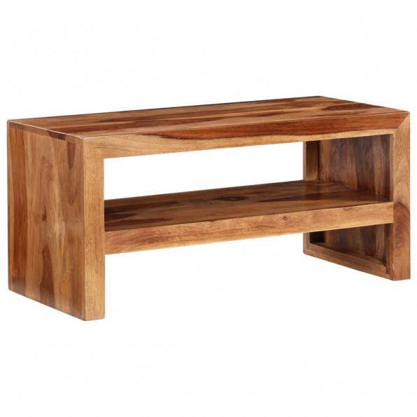 TV-bord/sidebord massivt sheeshamtræ
