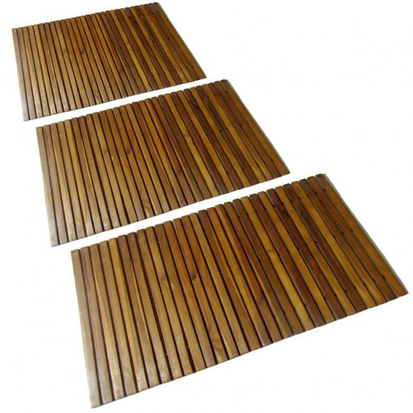 3 stk. akacie bademåtte 80 x 50 cm