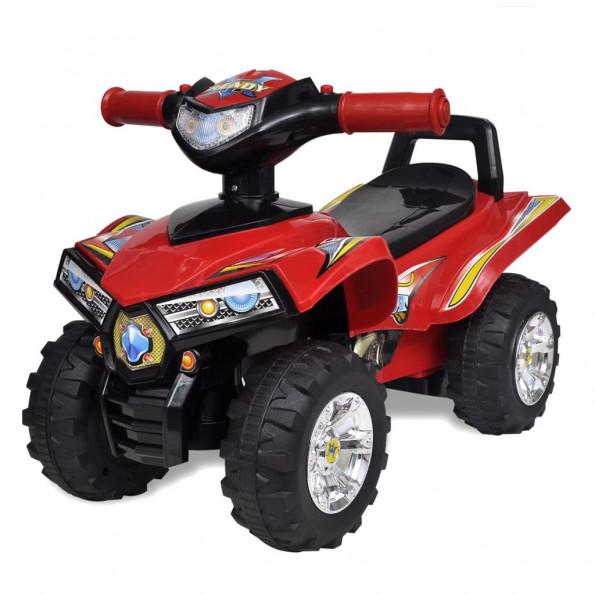 Firhjulet motorcykel til børn med lyd og lys rød