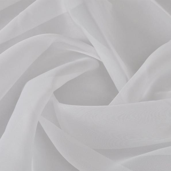 Voile-stof 1,45 x 20 m hvid