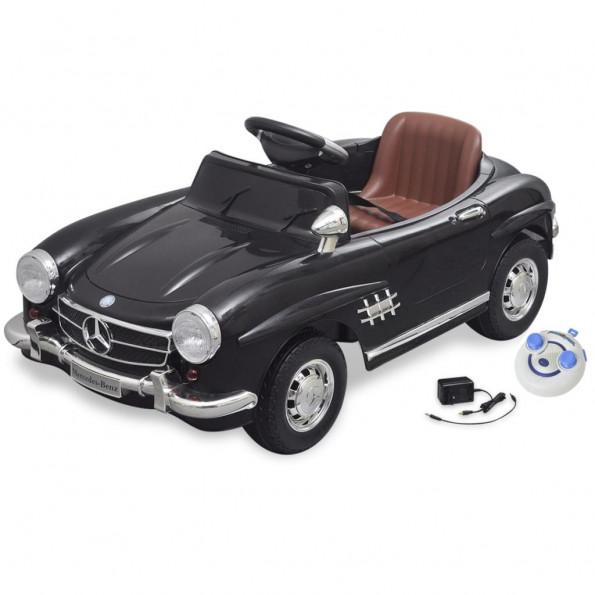 Elektrisk ride-on bil, Mercedes Benz 300SL, sort, 6 V m/fjernbetjening