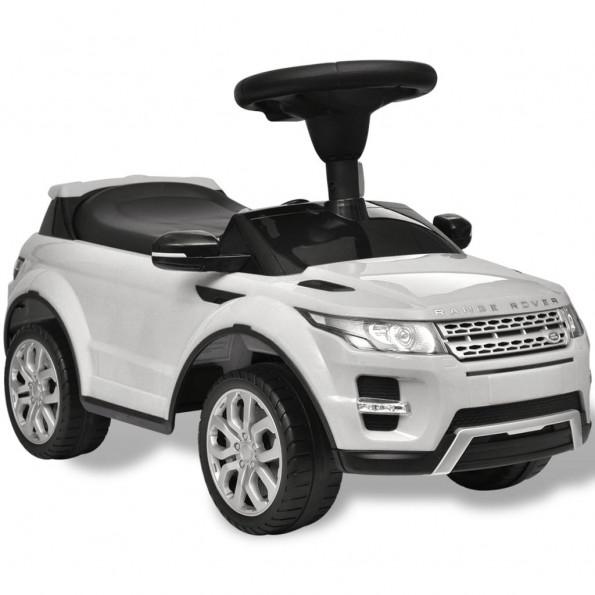 Land Rover 348 Børnebil med musik, Hvid