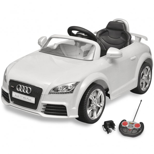 Audi TT RS bil til børn fjernbetjening hvid