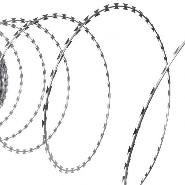 BTO-22 Concertine NATO pigtråd i galvaniseret stål 150 m