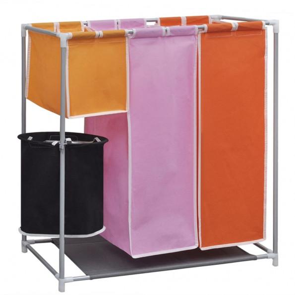 3-sektions fordelt vasketøjskurv