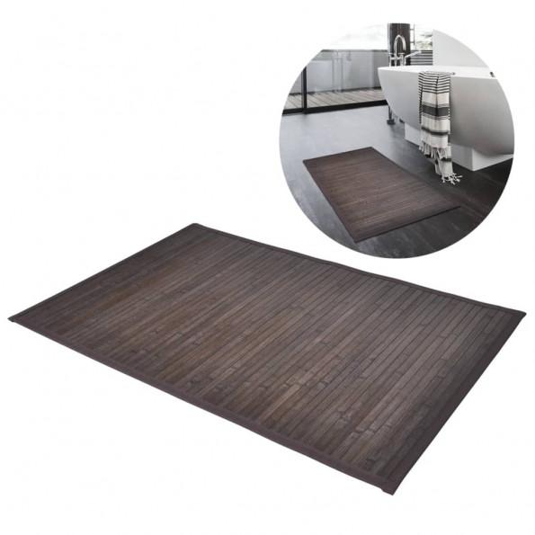 2 Bambusbademåtter 40 x 50 cm mørkebrun