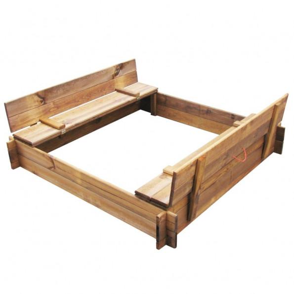 Sandkasse træ imprægneret firkantet