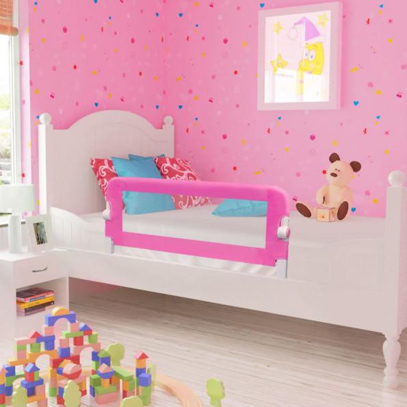 Sengegelænder til barneseng 102 x 42 cm pink
