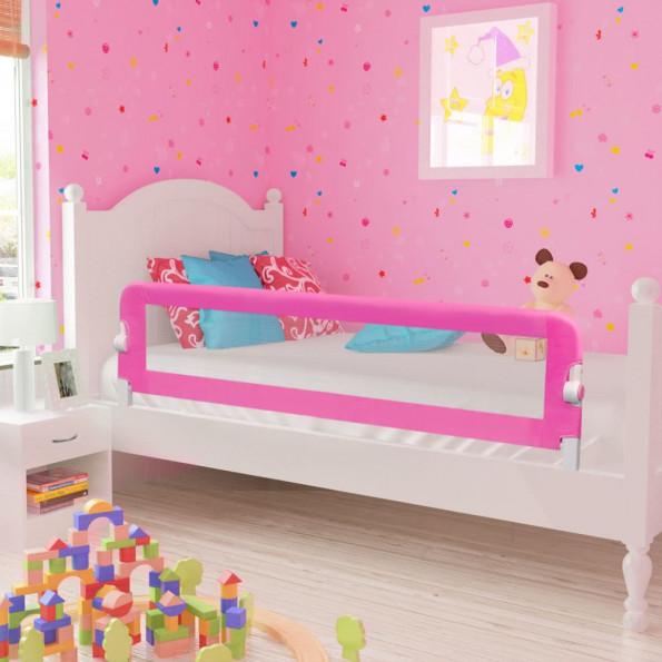 Sengegelænder til barneseng 150 x 42 cm pink
