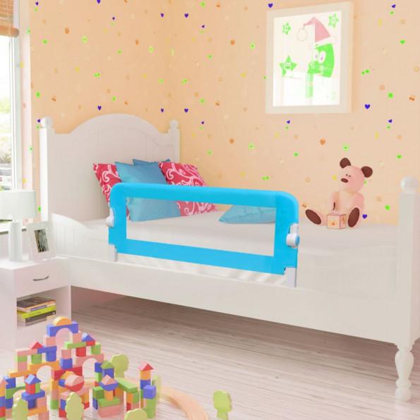 Sengegelænder til barneseng 102 x 42 cm blå