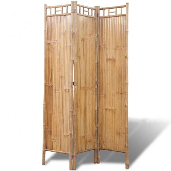 3-panelers rumdeler i bambus