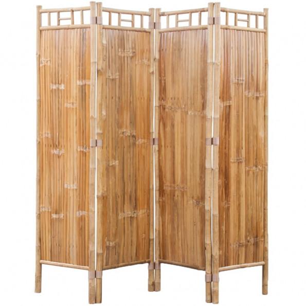 4-panelers rumdeler i bambus
