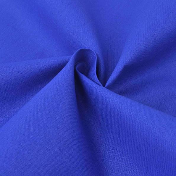 Bomuldsstof 1,45 x 20 m blå