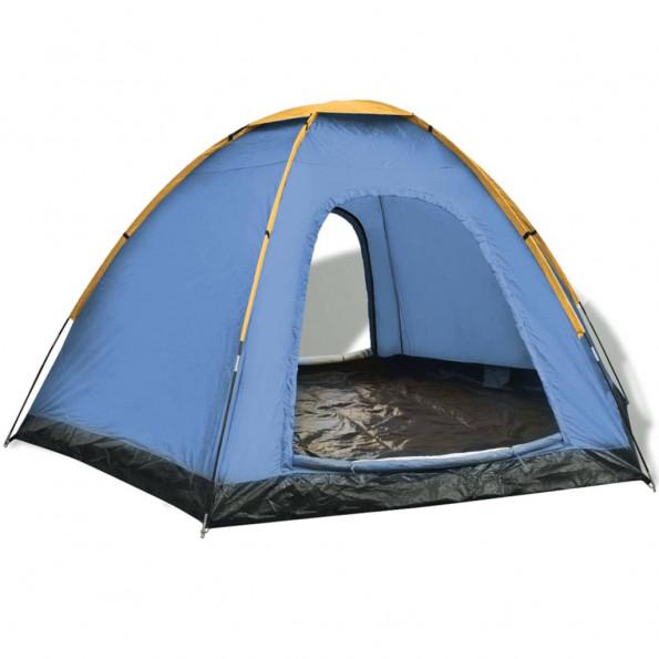 6-personers telt blå og gul