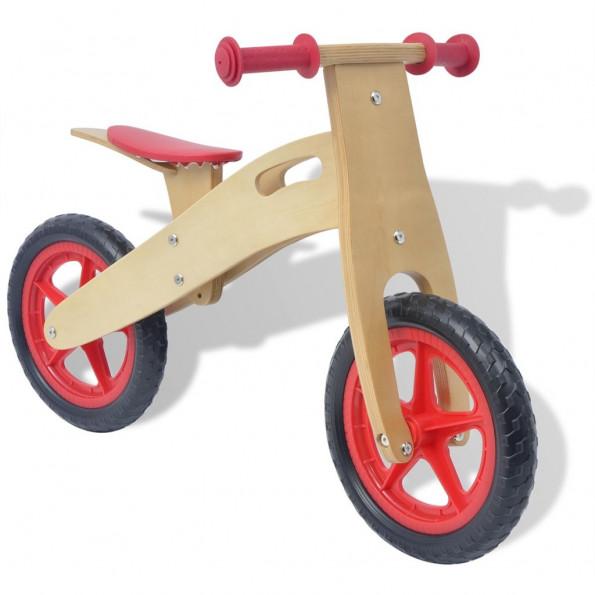 Balancecykel i træ, rød
