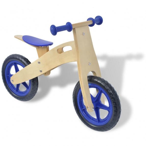 Balancecykel træ blå