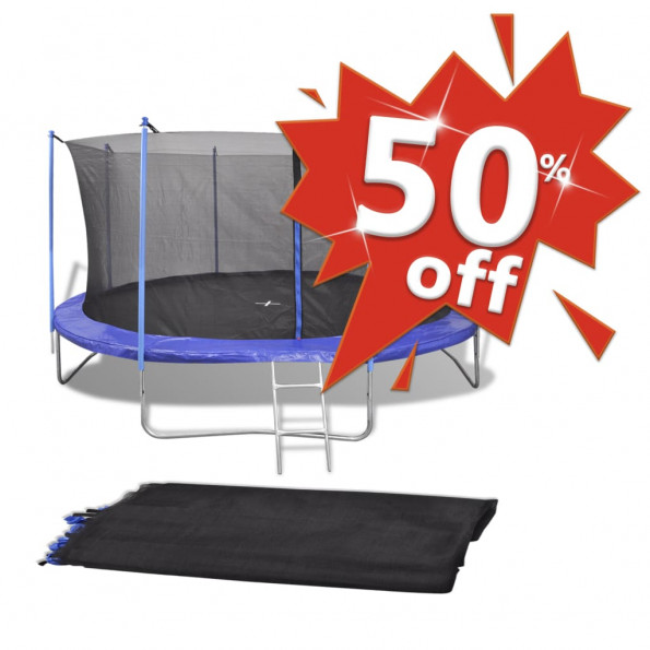 Sikkerhedsnet PE sort til 4,26 m rund trampolin