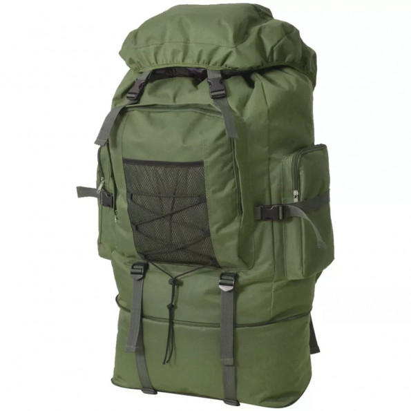 Militærinspireret rygsæk XXL 100 l grøn