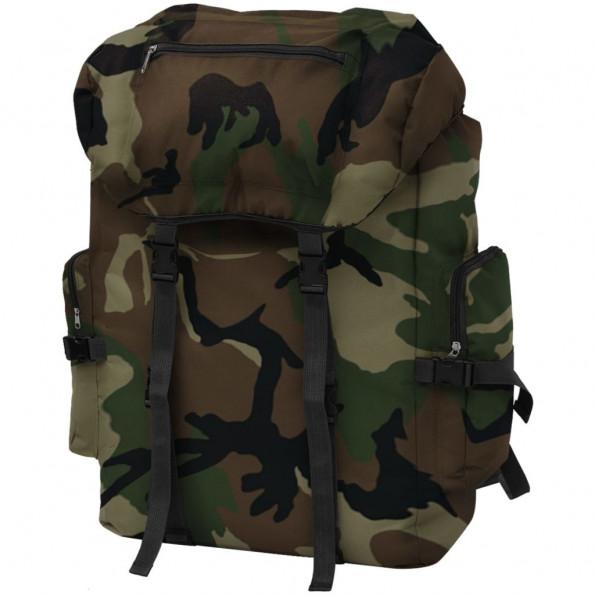Militærinspireret rygsæk 65 l camouflage