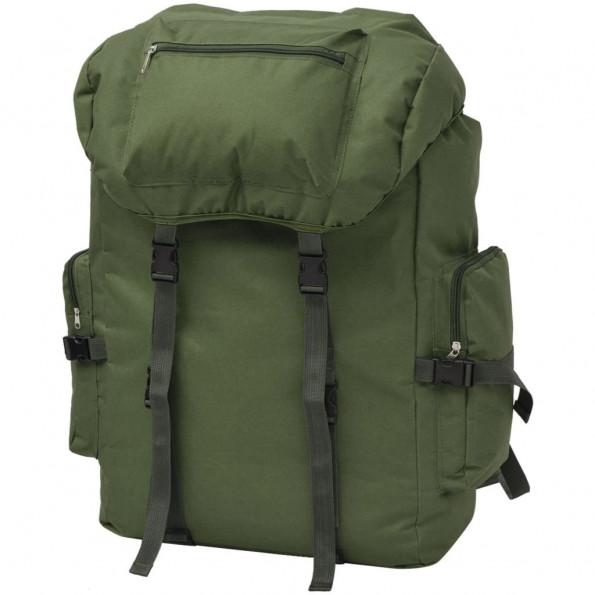 Militærinspireret rygsæk 65 l grøn