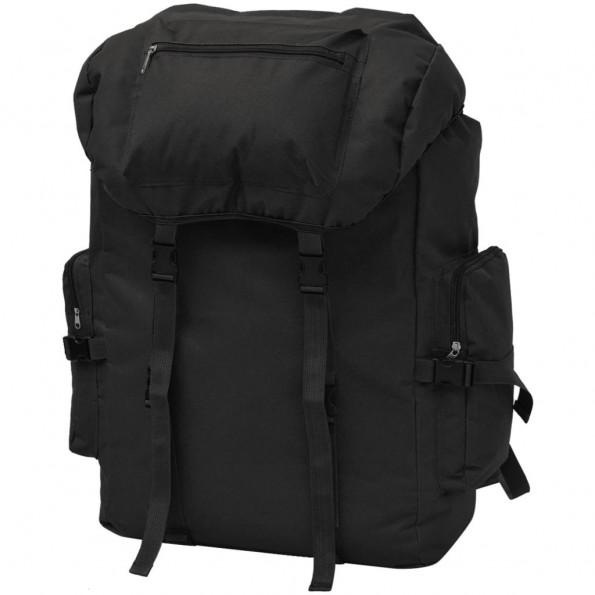 Militærinspireret rygsæk 65 l sort