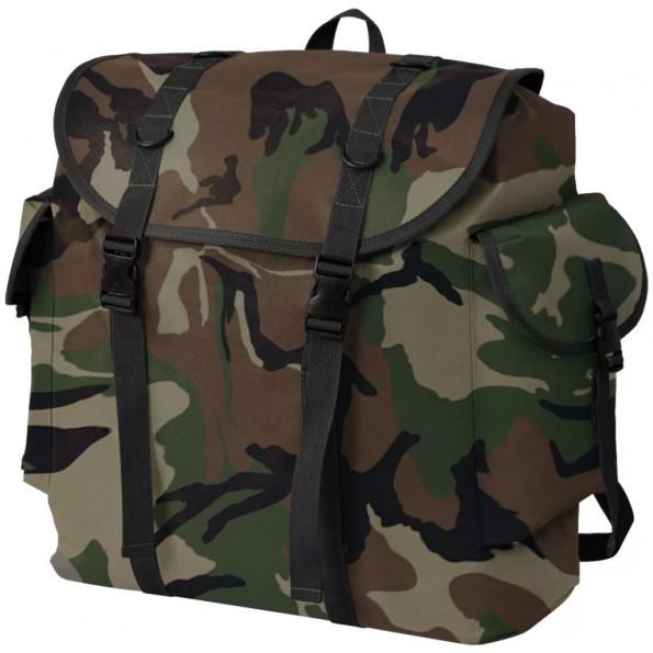 Militærinspireret rygsæk 40 l camouflage