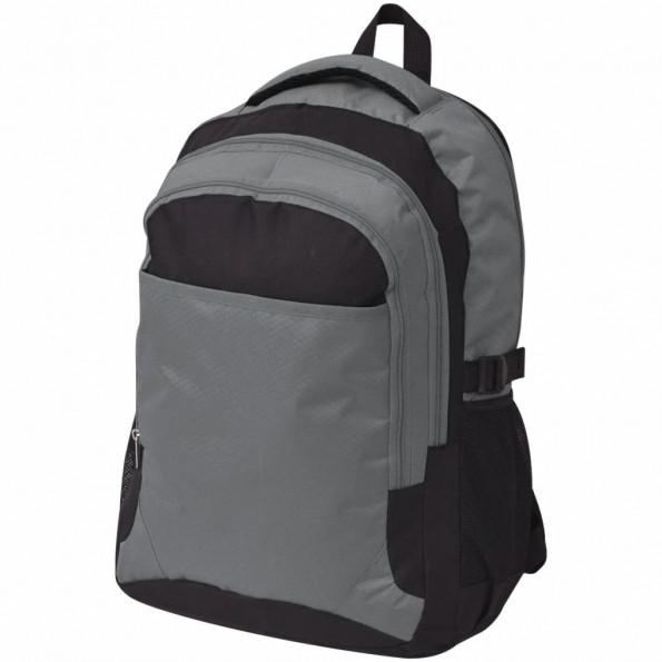Skolerygsæk 40 l sort og grå
