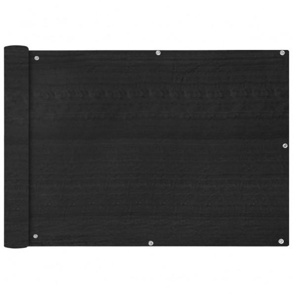 Balkonafskærmning HDPE 75x400 cm antracitgrå