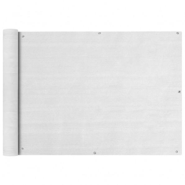 Balkonafskærmning HDPE 75x400 cm hvid