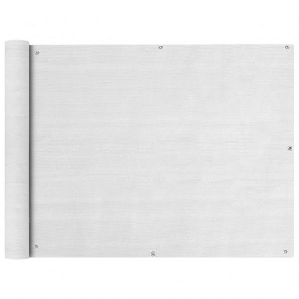 Balkonafskærmning HDPE 90 x 400 cm hvid