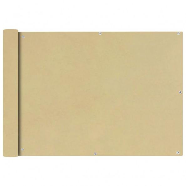 Balkonafskærmning Oxford-stof 75 x 400 cm beige