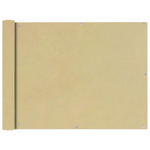 Balkonafskærmning Oxford-stof 90x400 cm beige