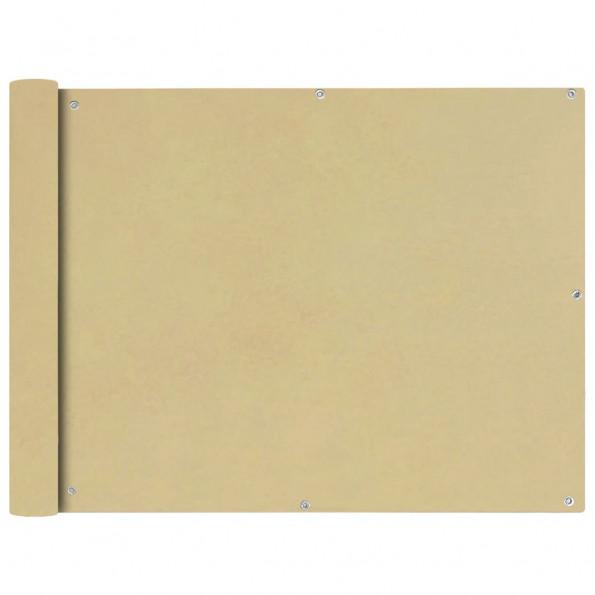 Balkonafskærmning Oxford-stof 90x600 cm beige